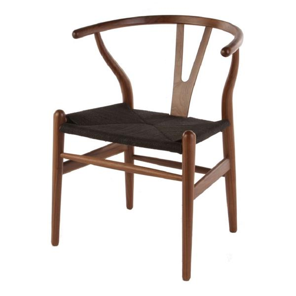 Plata Decor Woodcord Dining Chair - Black and Walnut