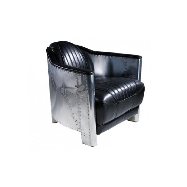 Plata Decor Mozilla II Chair - Black Faux Leather and Chrome