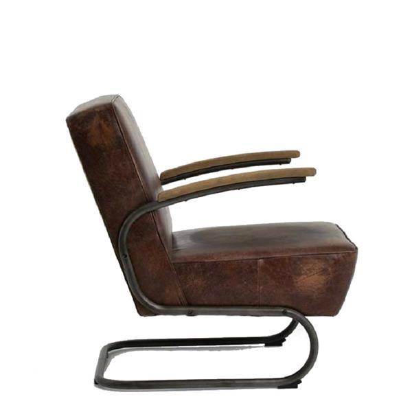 Plata Decor Roco Lounge Chair - Brown Faux Leather