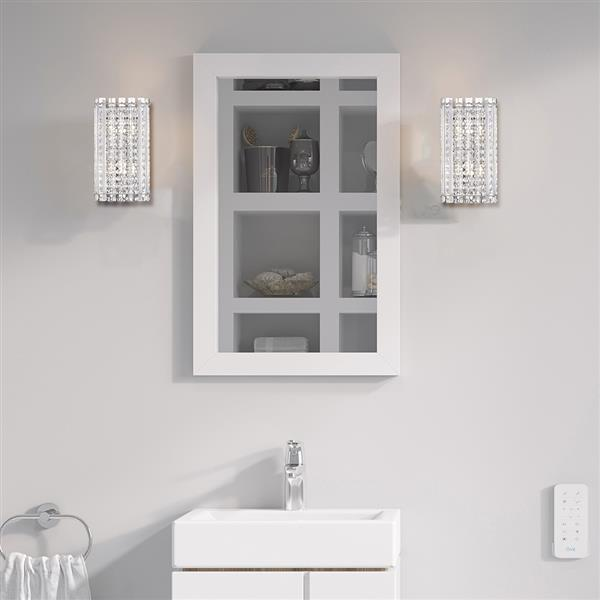 OVE Decors Patience I 2-Lights LED Vanity Light - Stainless Steel - 12.63-in x 7.06-in