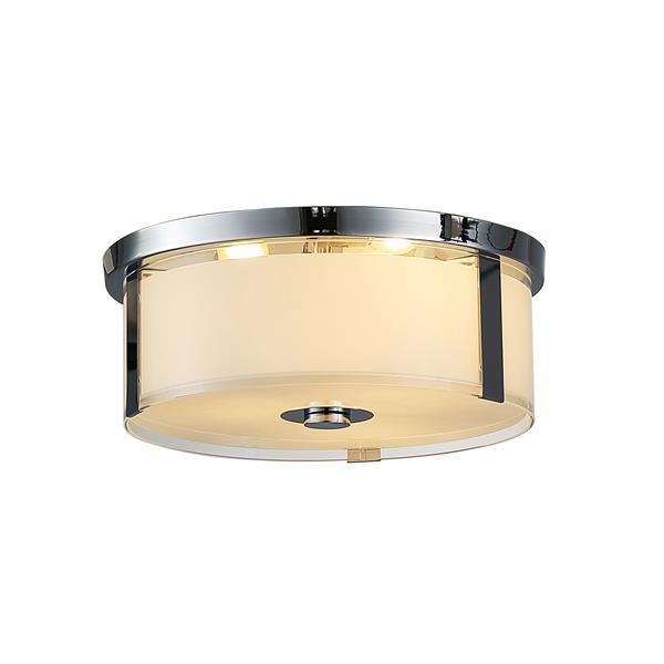OVE Decors Bailey I LED Ceiling Light - 3-Lights - Chrome - 15-in