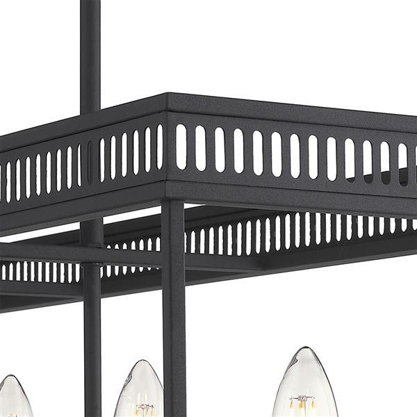 OVE Decors Henry V LED Black Chandelier Light - Rectangular - 5-Lights