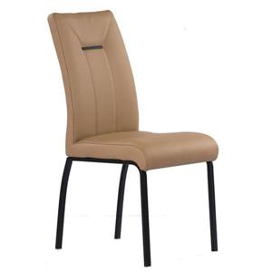 Corcoran Leather Chair - Moka with Black Legs - Set of 2
