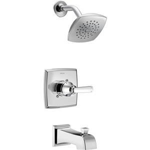 Garniture de douche Vero Série 14 de Delta, pommeau de douche intégré, technologie H2Okinetic, chrome