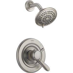 Garniture de baignoire et douche Lahara Série 14 de Delta, sans pomme de douche, chrome