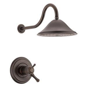 Garniture de douche Cassidy Série 17T de Delta, bronze vénitien