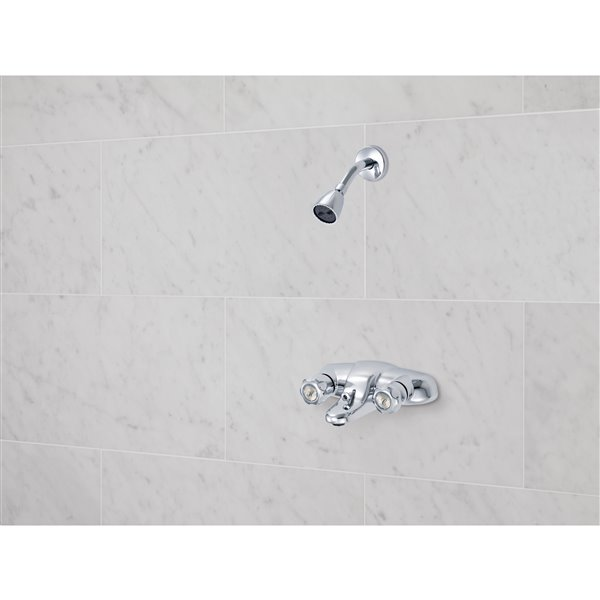 Classic Two Handle Tub and Shower Faucet, Chrome