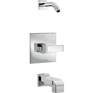 Garniture de douche Stryke Série 14 de Delta, technologie H2Okinteic, acier inoxydable