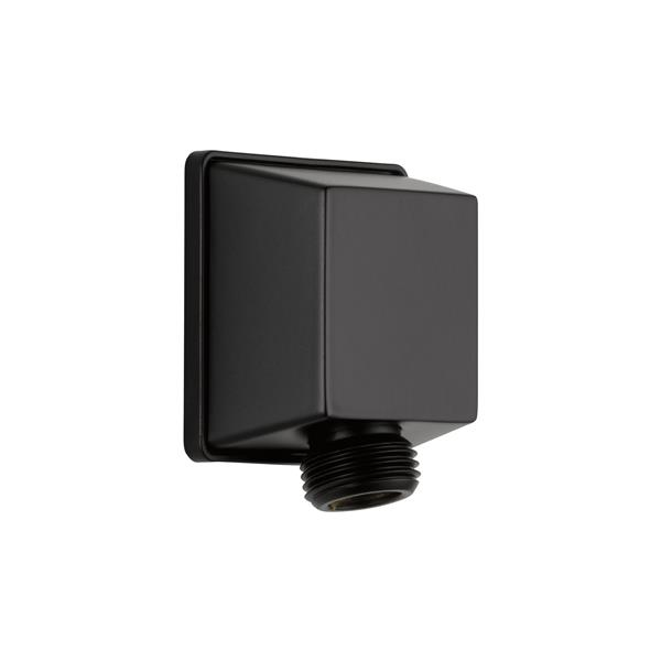 Delta Square Wall Elbow for Hand Shower - Matte Black