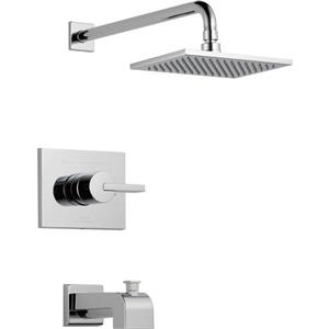 Garniture de baignoire et douche Vero Série 14 de Delta, technologie H2Okinetic, chrome