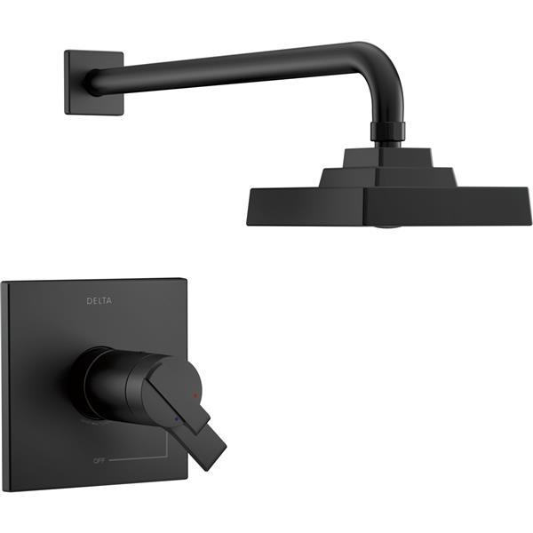 Garniture de douche Ara Série 17T de Delta, noir mat