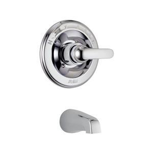 Garniture de valve Classic Série 13 de Delta, bec de baignoire intégré, chrome