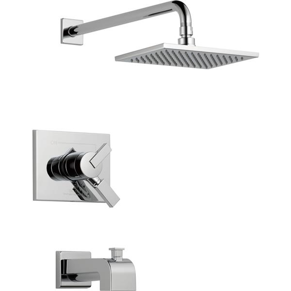 Delta Vero 17 Series Bath and Shower Faucet with Shower Head - Chrome