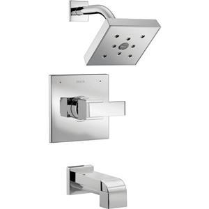 Garniture de douche Trinsic Série 14 de Delta, sans pommeau de douche, noir mat