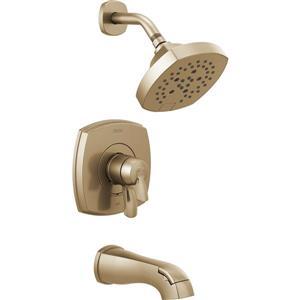 Garniture de baignoire et douche Stryke Série 17 de Delta, bronze champagne