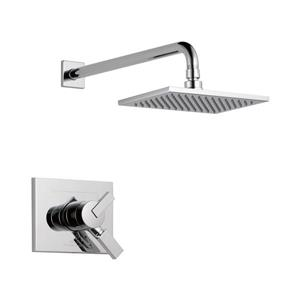 Delta Vero 14 Series Bath and Shower Faucet with Shower Head - H2Okinetic - Chrome