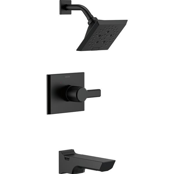 Delta Pivotal 14 Series Bath and Shower Trim Set - H2Okinetic - Matte Black