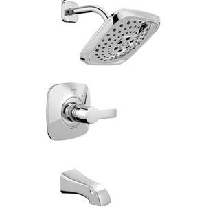 Garniture de baignoire et douche Tesla Série 14 de Delta, technologie H2Okinetic, chrome