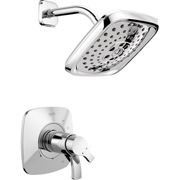 Delta Tesla 14 Series Bath and Shower Trim Set - H2Okinetic - Chrome