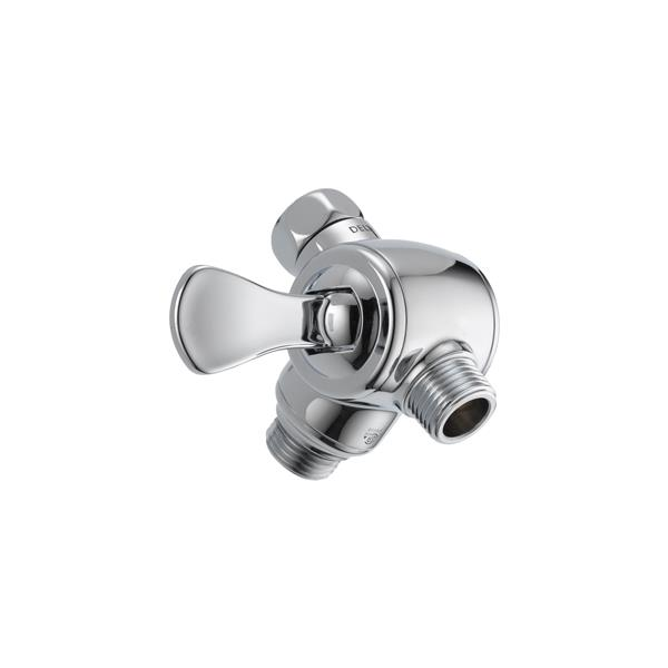 Delta Shower Arm Diverter for Hand Shower - 3-Way - Chrome