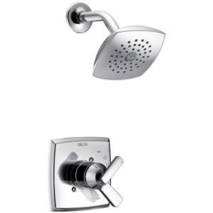 Garniture de bain et douche Zura Série 14 de Delta, pommeau de douche intégré, chrome