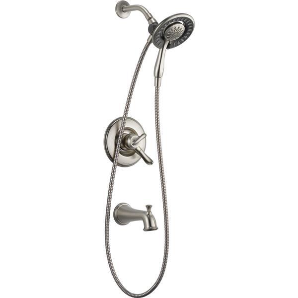 Delta Linden 17 Series Bath and Shower Trim Set - Hand Shower - Stainless Steel