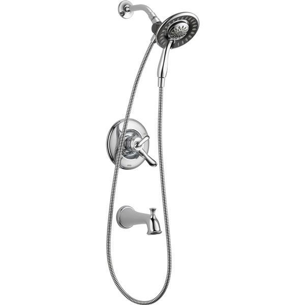 Delta Linden 17 Series Bath and Shower Trim Set - Hand Shower - Chrome