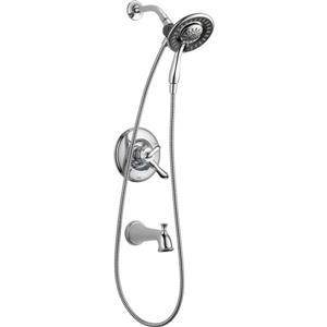 Garniture de baignoire et douche Linden Série 17 de Delta, douchette intégrée, chrome