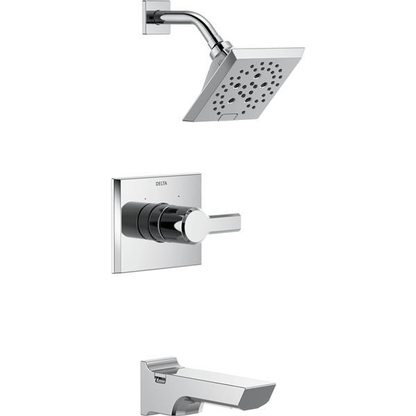 Delta Pivotal 14 Series Bath and Shower Trim Set - H2Okinetic - Chrome