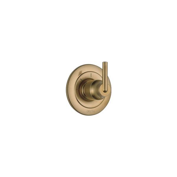 Garniture d'inverseur Trinsic de Delta, 3 fonctions, 2 ports, bronze champagne
