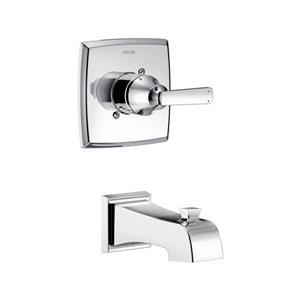 Garniture de baignoire et douche Monitor Série 17 de Delta, douchette intégrée, chrome