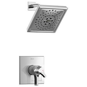 Garniture de douche Zura Série 17 de Delta, pommeau de douche intégré, chrome