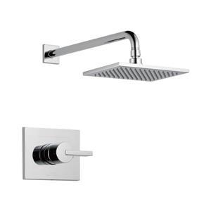 Garniture pour bain/douche Monitor Série 14 de Delta, douchette intégrée, chrome