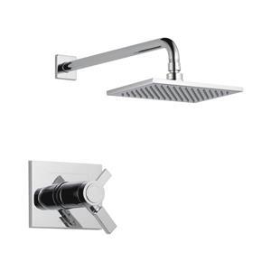 Garniture de douche Vero Série 17T de Delta, pommeau de douche intégré, chrome