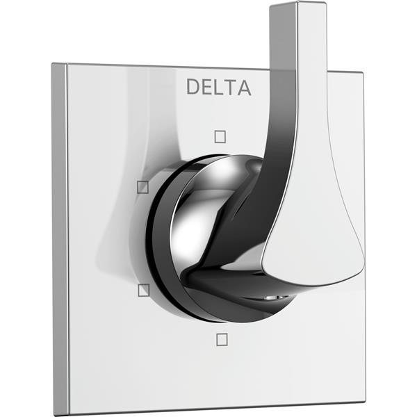 Delta Zura Diverter Trim - 3-Port - 6-Setting - Chrome