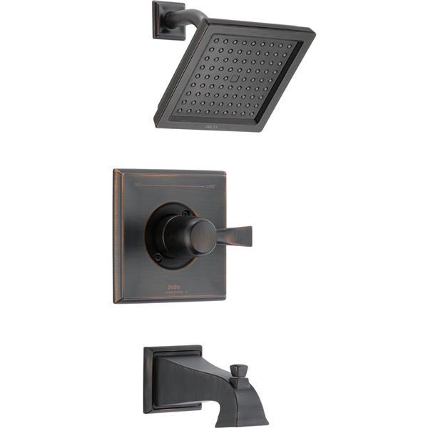 Delta Pivotal 14 Series Shower Trim Set - H2Okinetic - Matte Black