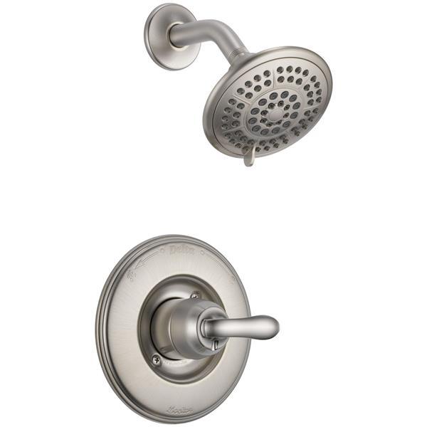 Garniture de douche Vero Série 14 de Delta, pommeau de douche intégré, bronze champagne