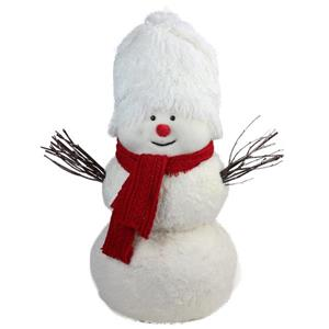 Northlight Snowman with Red Scarf Table Top Decoration - 24.5-in