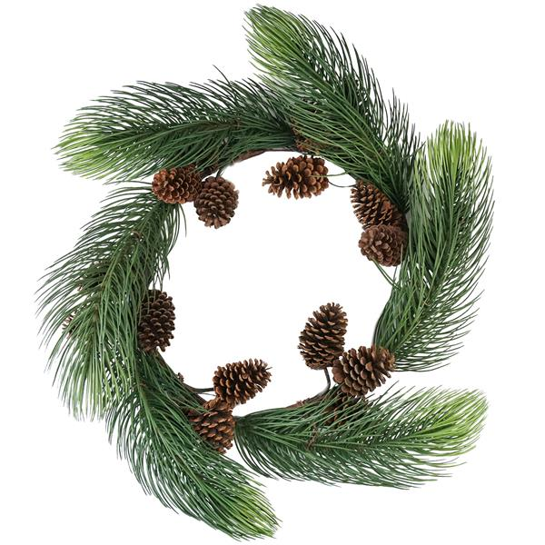 Allstate Artificial Christmas Wreath with Pine cones - 30-in - Green