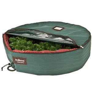 Tree Keeper Christmas Wreath Storage Bag - 24-in - Green