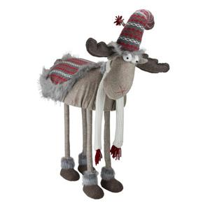 Northlight Winter Ready Bobble Action Nordic Christmas Moose Figure - 29-in