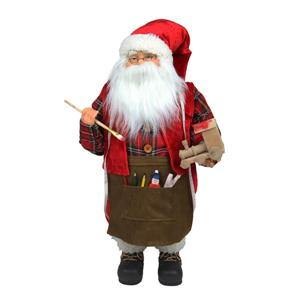 Northlight Animated Santa Claus Painting a Toy Train Christmas Decor