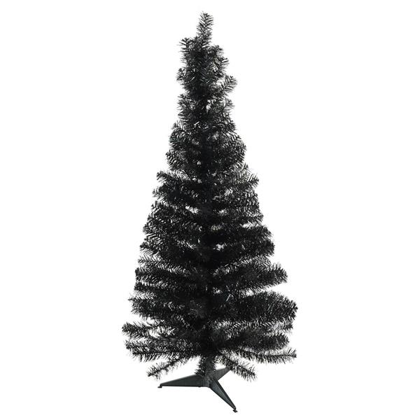 Northlight Slim Black Tinsel Artificial Christmas Tree - 4-ft x 24-in - Black