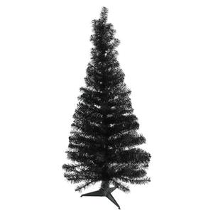 Northlight Slim Black Tinsel Artificial Christmas Tree - 4-ft x 24-in - Black