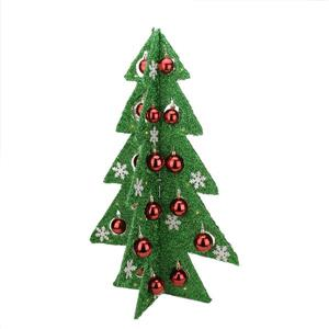 Northlight Tinsel Lighted Christmas Tree Table Top Décor - 28-in - Green