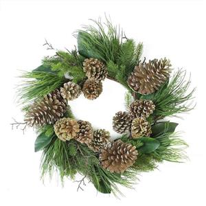 Northlight Mixed Pinecones Christmas Wreath - 28-in - Green