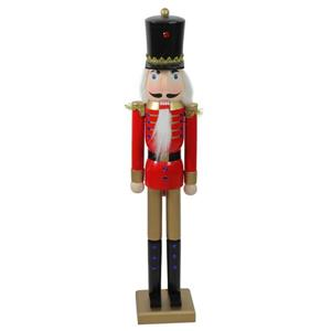 Northlight Wooden Christmas Nutcracker Soldier - 36.25-in - Red/Gold