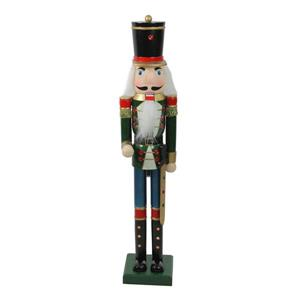 Northlight Glittered Wooden Christmas Nutcracker Soldier - Green/Blue