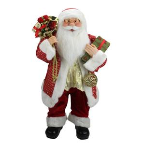Northlight Snazzy Santa Claus Christmas Figure with Ornament and Gifts