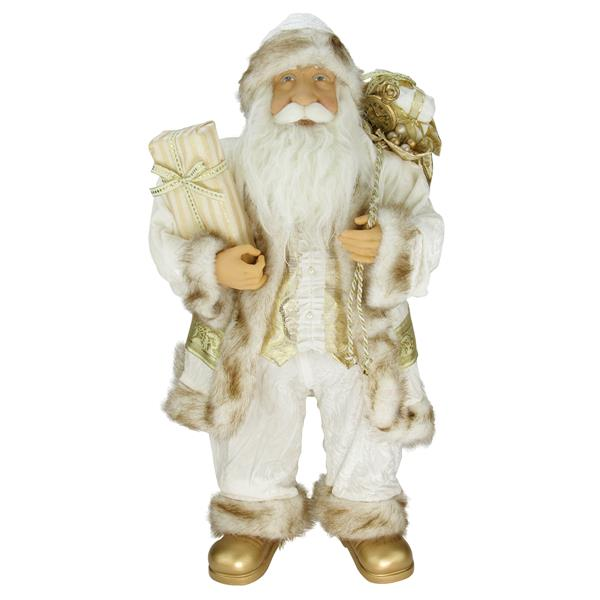 Northlight Standing Santa Claus Christmas Figure with Gift Bag - Ivory